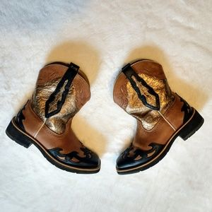 Ariat Fatbaby Brown Gold Cowboy Western Boots 6.5
